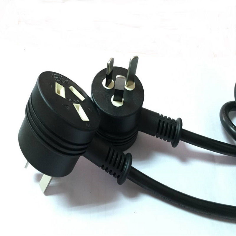 New SAA 3Pin AU power plug with female socket